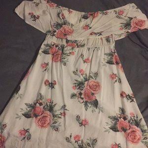 Off white off the shoulder dress